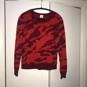 CAbi Red camo sweater